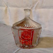 Boite à dragées verre 1950's