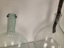 Duo de Dame Jeanne  en verre soufflé