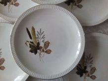 6 assiettes plates SARREGUEMINES Juliette