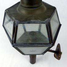 Paire d'appliques en laiton de style lanternes de fiacre