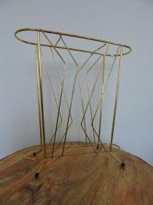 Porte parapluie vintage doré