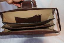Sac en cuir marron H. Saxel