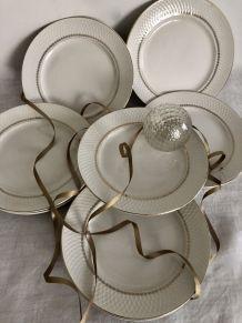 Série de 6 assiettes plates Moulin des Loups Orchies