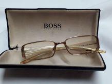 Monture de lunette dorée Hugo Boss