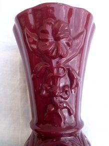 vase  en  fonte  émaillée , vintage