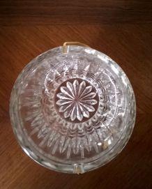 Seau à glaçons vintage en verre ciselé