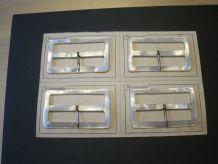 4 boucles de ceinture ancienne en bakélite années 30