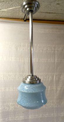 Suspension globe opaline bleu – années 50