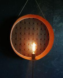 """Applique vintage, lampe murale """"Noir doré"""""""