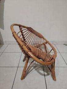 Chaise en rotin