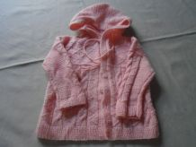 Pull Burnou rose