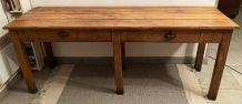 Table de ferme vintage ou double bureau