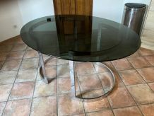 Table ovale Boris TABACOFF pour ROCHE BOBOIS. 1970.