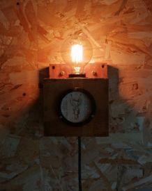 """Lampe murale industrielle, Applique vintage - """"L'Ampoulée"""""""