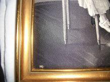 Tableau en soie tissée Manufacture Neyret Frères