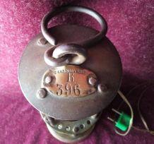 Lampe de mineur électrifiée C. Cornil Gilly
