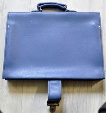 cartable cuir bleu pour cadre vélo homme