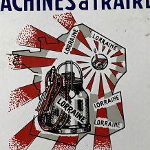 """Petite plaque émaillée """"Machine à traire - Lorraine"""""""