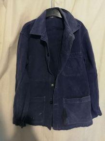 Veste de travail bleue Vintage