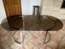 Table Boris TABACOFF pour ROCHE BOBOIS. 200x95. 1970.