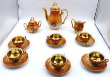Service a café de la marque  Bavaria decor Fragonard doré a