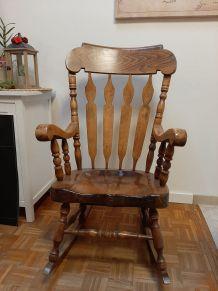 Rocking chair chêne massif