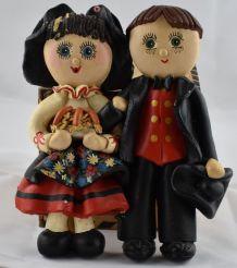 Couple alsacien en pâte à sel