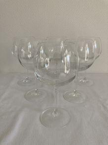 6 verres à vin cristal