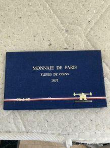 coffret monnaie de Paris fleurs de coin 1974 .Objet vintage
