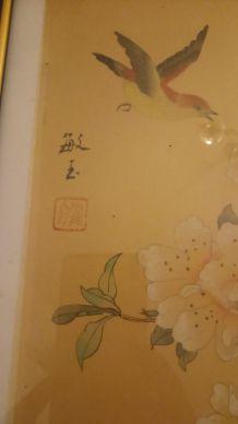 Tableau aquarelle vintage signé