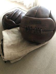 Ballon de décoration cuir vintage