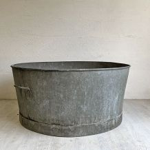 Grande bassine en Zinc vintage