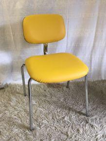 Chaise STRAFOR steelcase jaune– années 70