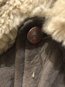 Blouson cuir vintage Chevignon