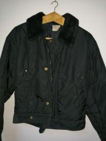 Blouson aviateur HOMECORE Noir vintage 90's