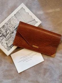Portefeuille en cuir vintage