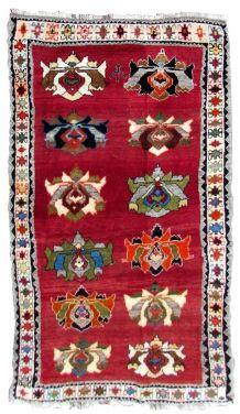 Tapis vintage Persan Gabbeh fait main, 1Q0341