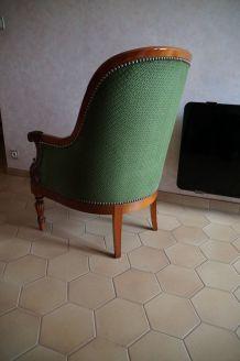 Deux fauteuils à crosse Napoléon III