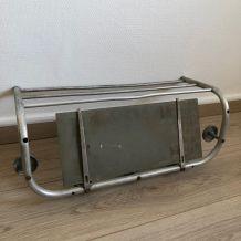 Portemanteau aluminium miroir vintage 1960