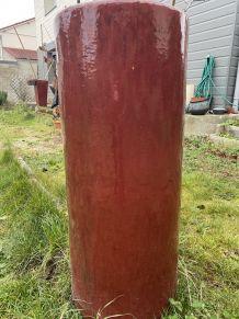 Très grands pots à plantes terre cuite émaillée
