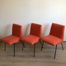 Suite 3 chaises CM 145 Pierre Paulin vintage 1950