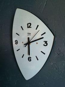 """Horloge vintage, pendule murale """"Odo bleu"""""""