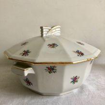 Vaisselle ancienne : soupière - Modèle Paulette