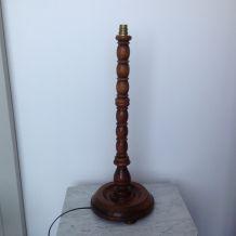 Grand pied de lampe bois