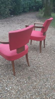Paire de fauteuils bridge scandinaves