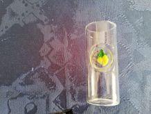 Très bel ensemble bouteille et verre pour limoncello