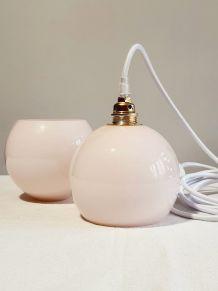 Baladeuse globes opaline vintage
