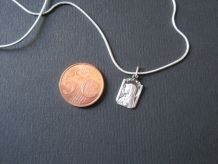 chaine plus médaille argent vierge