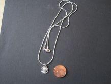 ensemble collier médaille argenté médaille