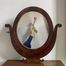 Table maquillage avec miroir et tiroir